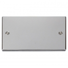 Image for Deco 2 Gang Blanking Plate Polished Chrome - VPCH061