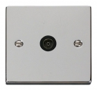 Image for Deco Coaxial Outlet - Black - Polished Chrome - VPCH065BK