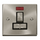 Image for Deco Switched Fused Connection with Neon - Black - Satin Chrome - VPSC752BK