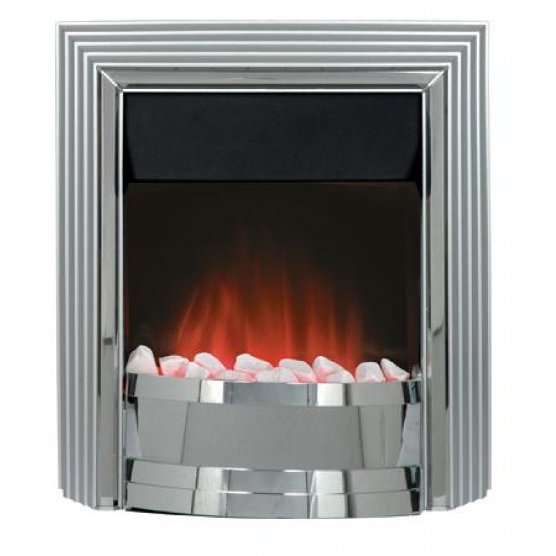 Dimplex Castillo Freestanding Inset Chrome Satin Silver Electric Fire Inset Electric Fires Plumbnation Co Uk