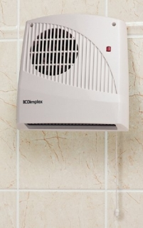 Dimplex Kitchen Fan Heater with Low Lever Adjustable Thermostat
