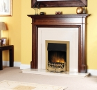 Image for Dimplex Stamford Traditional Brass Inset Electric Fire - STM20