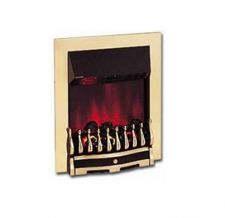 Dimplex Wynford Inset Brass Electric Fire