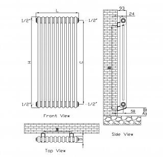 Discount 2 Column Radiators