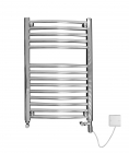 Image for Discount Curved Dual Fuel Chrome Towel Rail  1200mm x 420mm - 4MAC12DF