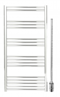 Discount Non-Thermostatic Dual Fuel Chrome Towel Rails