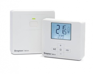 Drayton MiStat Wireless Room Thermostat & Receiver MN110R