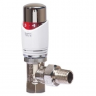 Drayton TRV4 Valve 10mm Angled (White & Chrome)