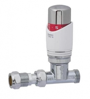 Drayton TRV4 Valve 15mm Straight (White & Chrome)