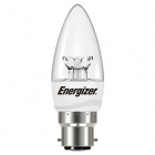 Image for ENERGIZER LED CANDLE 470LM CLEAR B22 WARM WHITE BOXED