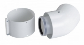 Ferroli 125mm 45 Degree Flue Bend