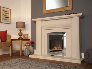 Flavel Decadence HE Slimline Gas Fire - Chrome