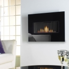 Image for Flavel Kamina Wall Mounted Gas Fire Black - FCRR10RN