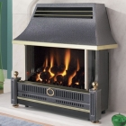 Image for Flavel Renoir Outset Gas Fire Electronic Side Control Black - FRECN0EN