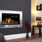 Image for Flavel Rocco HE Hole In The Wall Gas Fire Black & Silver - FPHL21RN