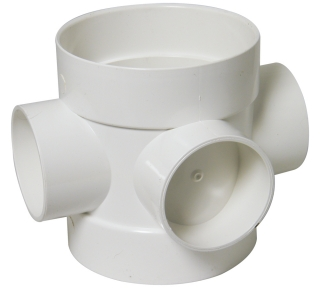 FloPlast 110mm Soil Boss Pipes - Socket/Spigot