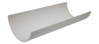 FloPlast 112mm Half Round Gutter - 4m Lengths