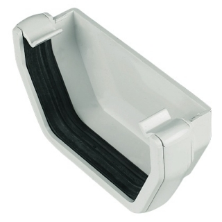 FloPlast 114mm Square External Stop Ends