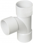 Image for FloPlast 40mm ABS Solvent Weld Swept Tee - White