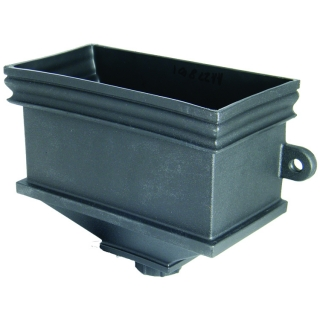 FloPlast Cast Iron Style Hopper - Rectangular With Fixing Lugs