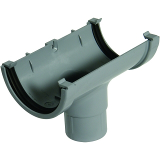 FloPlast Half Round 75mm Gutter Running Outlet