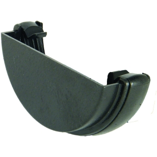FloPlast Half Round Cast Iron Style External Stop End