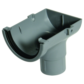 FloPlast Half Round Cast Iron Style Stop End Outlet