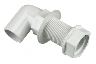 FloPlast Overflow Bent Tank Connectors - White