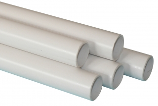 FloPlast Overflow Pipe - 3m Length - White