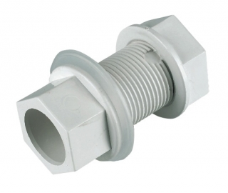 FloPlast Overflow Straight Tank Connectors - White