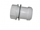 Image for FloPlast 40mm Pushfit Waste Tank Connectors - Grey Pack Of 10