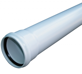 FloPlast Single Socket Soil Pipe - 3m Lengths