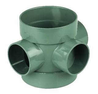 FloPlast Solvent Weld Soil Short Boss Pipe