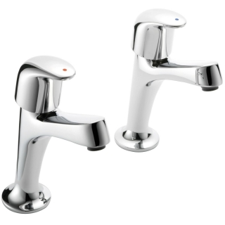 Francis Pegler Haze High Neck Kitchen Taps (Pair)