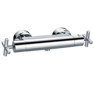 Francis Pegler Morea Wall Mounted Thermostatic Bar Shower Mixer with Shower Kit