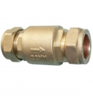 Image for 22mm Brass Compression Full Flow Single Check Valve