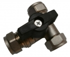 Chrome Full Flow Tee Isolation Valve