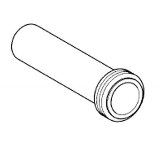 Grohe 37489 Flush Pipe with Connector