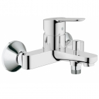 Image for Grohe Bauedge Wall Mounted Single Lever Bath Shower Mixer - 23334000
