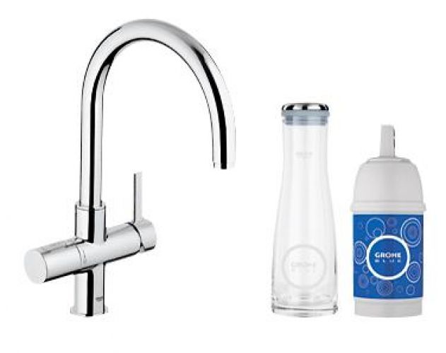 grohe blue filter tap starter kit 31087000 kitchen tap. Black Bedroom Furniture Sets. Home Design Ideas