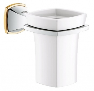 Grohe Grandera Holder / Ceramic Tumbler 40626IG0 Gold