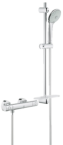 grohe grohtherm 1000 cosmopolitan thermostatic shower mixer 1 2