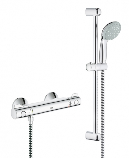 GROHE Grohtherm 800 Thermostatic Shower Mixer with Shower Set