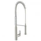 Image for Grohe K7 SuperSteel High Spout Professional Spray Kitchen Sink Mixer - 32950DC0