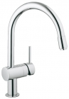 Grohe Minta Chrome Pull-Out Spout Kitchen Sink Mixer 32918000