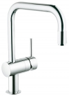 Grohe Minta Chrome Pull-Out U-Spout Kitchen Sink Mixer 32067000