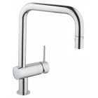 Image for Grohe Minta Pull-Down Spout Kitchen Sink Mixer - 32322002