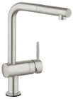 Grohe Minta SuperSteel L-Spout Touch Electronic Kitchen Sink Mixer 31360DC1