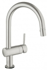 Grohe Minta Touch SuperSteel Electronic Kitchen Sink Mixer 31358DC0