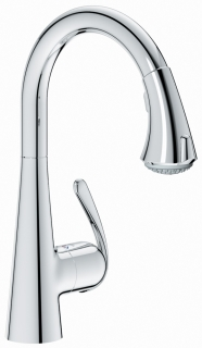 GROHE Zedra Kitchen Tap with Pull-Down Spray Head